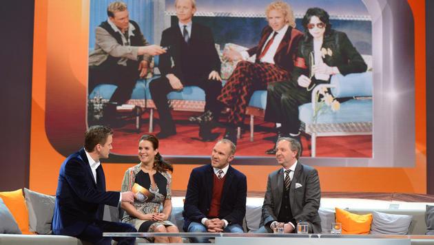 Hermann Maier und Katharina Witt erinnerten sich an das Zusammentreffen mit Michael Jackson. (Bild: ZDF)