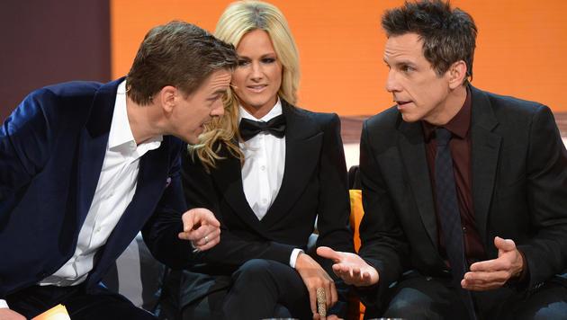 Markus Lanz mit Helene Fischer und Ben Stiller (Bild: ZDF)