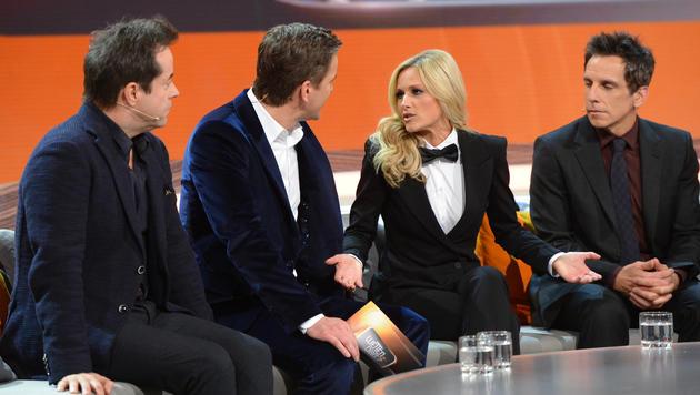 Jan Josef Liefers, Markus Lanz, Helene Fischer, Ben Stiller (Bild: ZDF)
