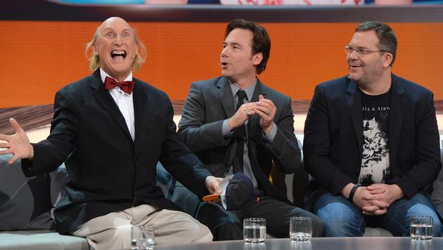 "Otto, Michael ""Bully"" Herbig und Elton (Bild: ZDF)"