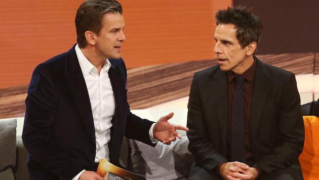 """Ben Stiller war zum ersten Mal zu Gast bei """"Wetten, dass..?"""". (Bild: APA/EPA/DAVID EBENER)"""