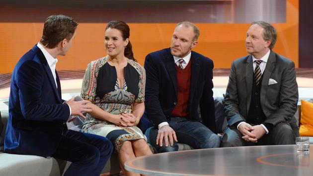 Katarina Witt, Hermann Maier, Olli Dittrich (Bild: ZDF)