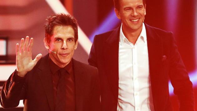 Ben Stiller mit Markus Lanz (Bild: APA/EPA/DAVID EBENER)