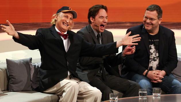 """Auch Otto, Michael """"Bully"""" Herbig und Elton gaben """"Wetten, dass..?"""" ein letztes Mal die Ehre. (Bild: APA/EPA/DAVID EBENER)"""