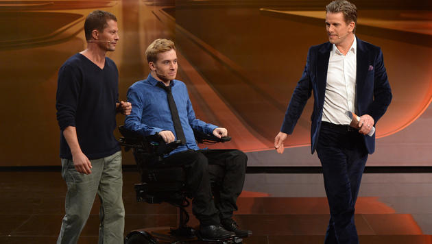 Til Schweiger, Samuel Koch, Markus Lanz (Bild: ZDF)
