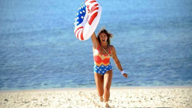 Julia Mancuso im Wonder-Woman-Outfit: 'I'll keep on fighting', postet die Amerikanerin auf Facebook. (Bild: facebook.com/Julia Mancuso)
