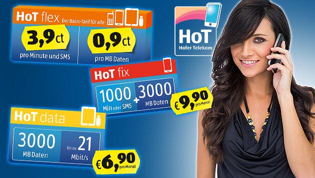 167.000 Kunden: Mobilfunker HoT wächst rasant (Bild: HoT, thinkstockphotos.de. krone.at-Grafik)