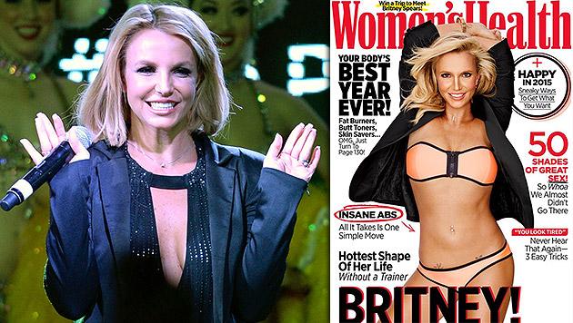 """Am """"Women""""s Health""""-Cover zeigt sich Britney im Bikini. (Bild: AP, facebook.com/britneyspears)"""