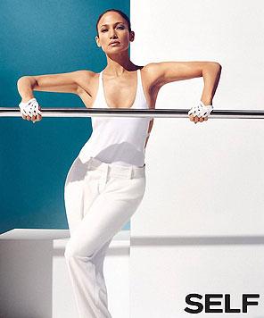 """Jennifer Lopez zeigt sich sportlich für das """"Self""""-Magazin. (Bild: Viennareport)"""