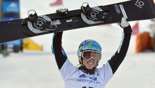 Marion Kreiner gewinnt Parallel-RTL in Carezza (Bild: APA/BARBARA GINDL)