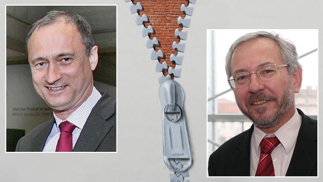 Andreas Mailath-Pokorny (li.) und Rudolf Schicker (re.) sind hintereinander gereiht. (Bild: APA/Georg Hochmuth, APA/OTS/Peter Hautzinger, Arne Dedert)