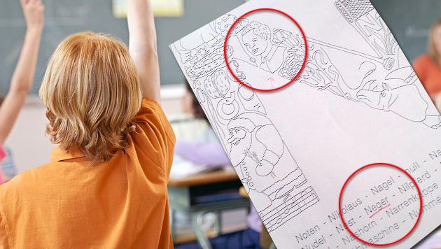 Dieses Übungsblatt bekam ein Sechsjähriger als Hausaufgabe mit. (Bild: thinkstockphotos.de,  Privat)