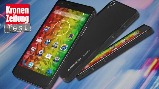 Medion Life X5001: Smartphone-Schnäppchen im Test (Bild: MEDION)