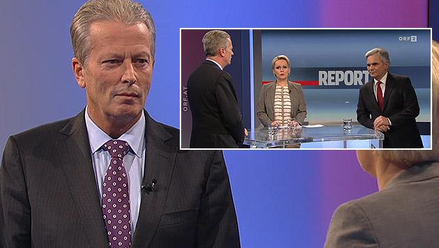 Mitterlehner entschuldigt sich für Hypo-Skandal (Bild: ORF)
