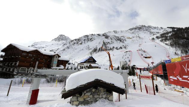 "Abfahrtstraining der Damen in Val d""Isere abgesagt (Bild: APA/Helmut Fohringer)"