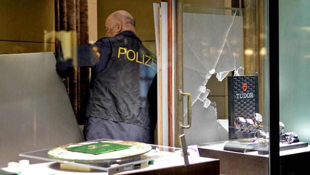 Der Nobeljuwelier Schullin wurde überfallen. (Bild: APA/HERBERT NEUBAUER)