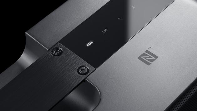 Die Kopplung mit dem Smartphone erfolgt beim Boomster bequem via NFC. (Bild: Teufel)