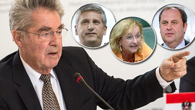 Fischer nimmt Ex-Minister in die Hypo-Pflicht (Bild: APA/GEORG HOCHMUTH, APA/EPA/FILIP SINGER, APA/ROLAND SCHLAGER)
