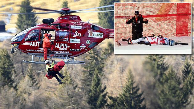 Florian Scheiber in Gröden schwer gestürzt (Bild: AFP)