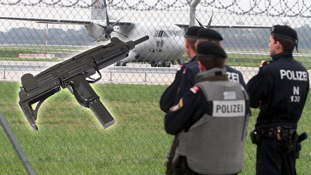 Terroralarm am Flughafen Wien: Waffe im Gepäck (Bild: Andi Schiel (Symbolbild), thinkstockphotos.de (Symbolbild))