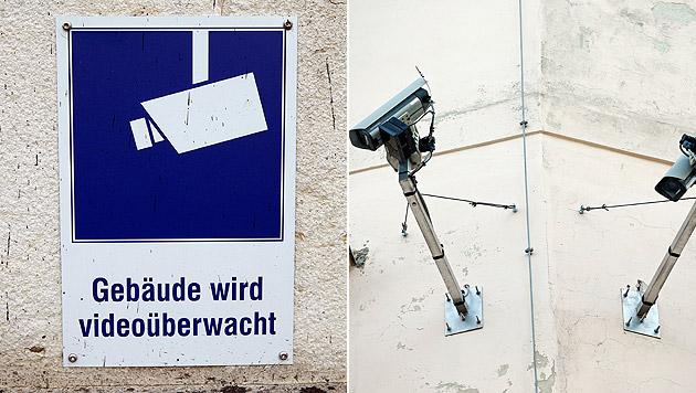 Die Überwachungskameras schreckten die Täter dabei überhaupt nicht ab. (Bild: Reinhard Holl)