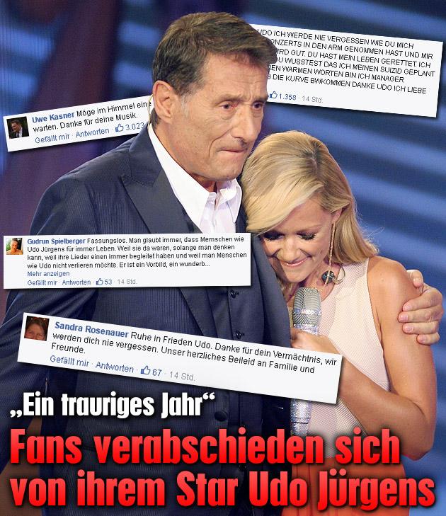 Fans trauern um ihren gro�en Star Udo J�rgens (Bild: APA/dpa, facebook.com)