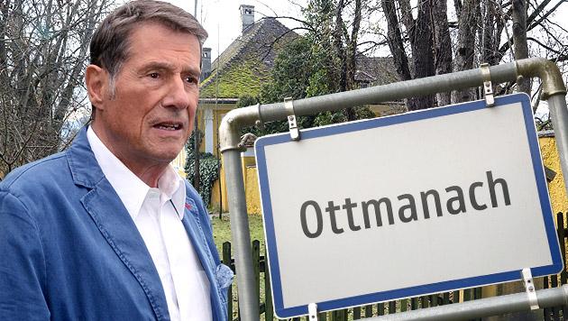 Kärnten: Udos Heimatort Ottmanach trägt Trauer (Bild: APA/EPA/HORST OSSINGER, Uta Rojsek - Wiedergut, krone.at-Grafik)