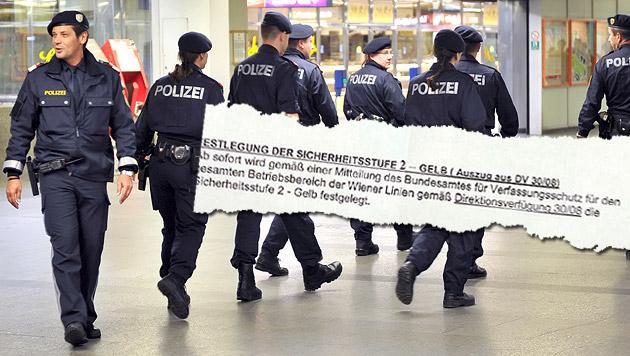 """Wiener Linien geben Terrorwarnung aus (Bild: APA/HERBERT NEUBAUER, """"Krone"""")"""