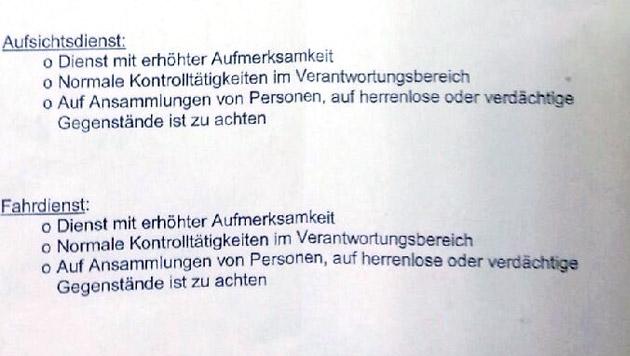 """Wiener Linien geben Terrorwarnung aus (Bild: """"Krone"""")"""