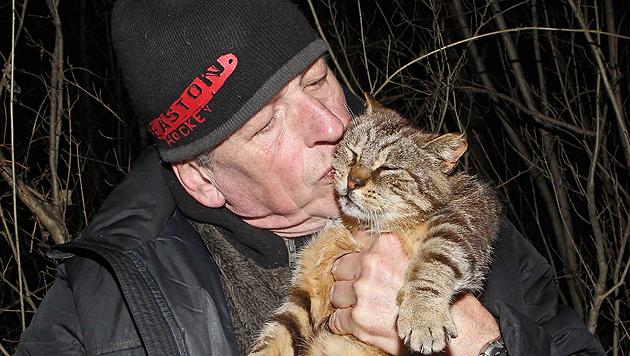 """Georg Swoboda und """"Minka"""" sind ein Herz und eine Seele. (Bild: Georg Swoboda)"""