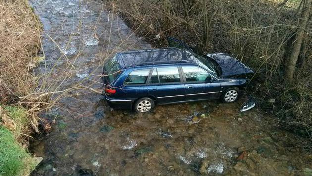 Der Steirer stürzte mit dem Auto in einen Bach. (Bild: APA/FF LIGIST/UNBEKANNT)