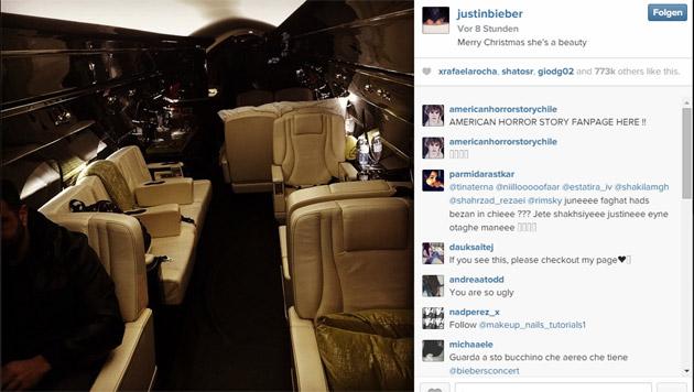 """... wunderschön"""", teilte Luxuskind Justin Bieber seinen Fans auf Instagram mit. (Bild: instagram.com/Justin Bieber)"""