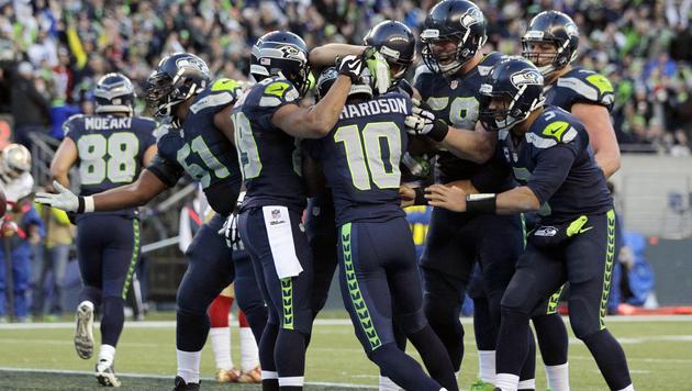 Titelverteidiger: Seattle Seahawks (Bild: AP/John Froschauer)