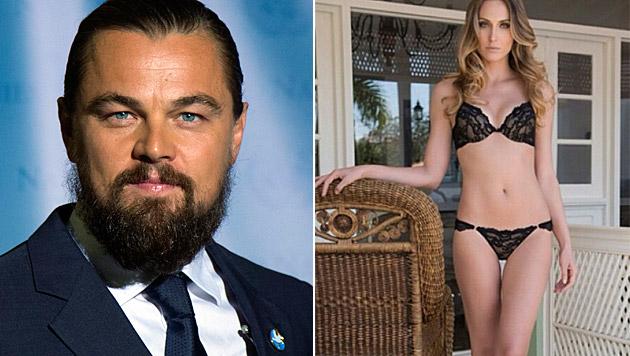 Leonardo DiCaprio soll mit Model Eliza Joenck liiert sein. (Bild: APA/EPA/JASON SZENES, instagram.com/elizajoenck)