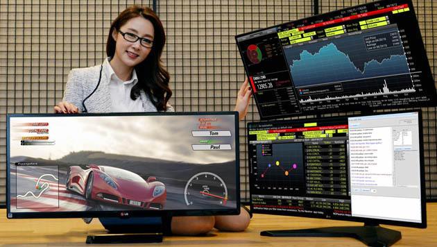 LG und Samsung setzen auf krumme Monitore und PCs (Bild: LG)