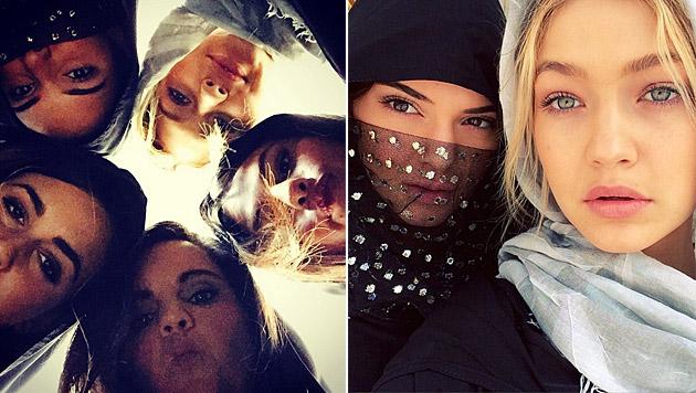 Kendall Jenner feiert gemeinsam mit Selena Gomez und Gigi Hadid in Dubai Silvester. (Bild: instagram.com/selenagomez, instagram.com/gigihadid)