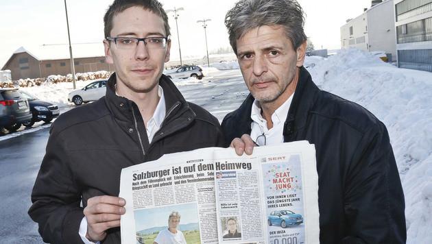 Erwin Schrümpf mit seinem Sohn Manuel (Bild: Markus Tschepp)