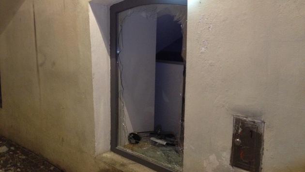 Die Druckwelle einer Feuerwerks-Detonation ließ  in Villach mehrere Scheiben bersten. (Bild: HFW Villach /KK)