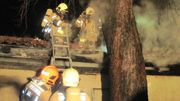 Die Flammen wurden von der Grazer Feuerwehr rasch unter Kontrolle gerbacht. (Bild: APA/BF GRAZ)