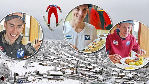 Die ganze Wahrheit über das Essen der Skispringer (Bild: Andreas Tröster, Christof Birbaumer)