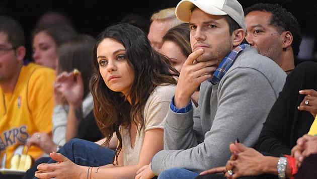 Mila Kunis und Ashton Kutcher (Bild: AP)