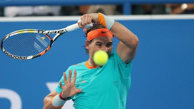 Nadal gelangen beim Comeback nur zwei magere Games (Bild: APA/EPA/ALI HAIDER)