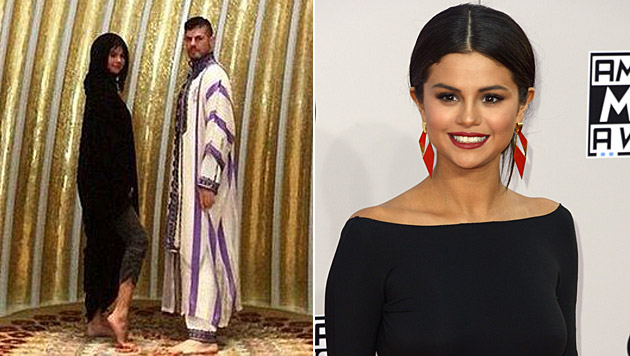 Mit diesem Foto sorgt Selena Gomez für einen Skandal in Abu Dhabi. (Bild: instagram.com/selenagomez, APA/EPA/PAUL BUCK)