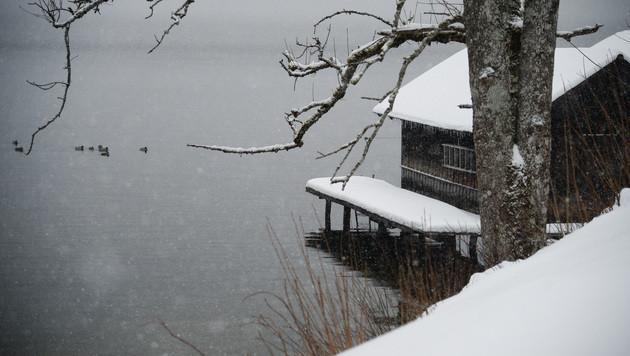 Bond-Dreh in Altaussee (Bild: APA/BARBARA GINDL)