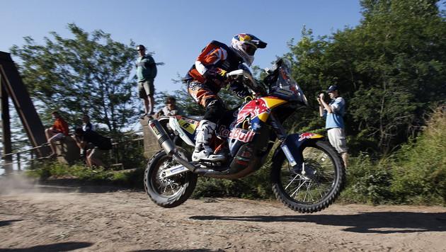 Matthias Walkner bei der Dakar auf Rang acht (Bild: APA/EPA/FELIPE TRUEBA)