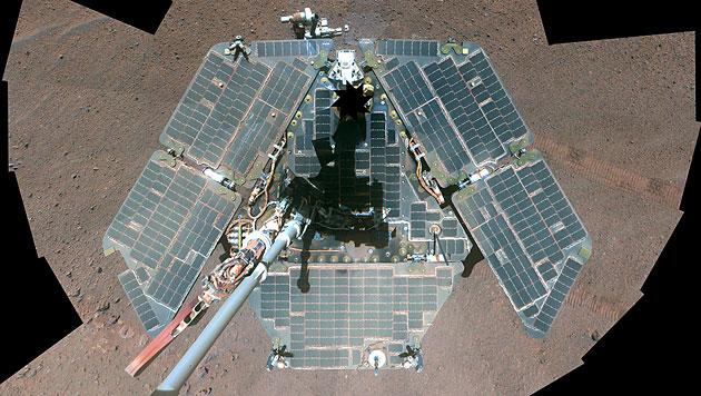 """Ein Selbstporträt des Mars-Rovers """"Opportunity"""" (Bild: NASA/JPL-Caltech/Cornell University/Arizona State University)"""