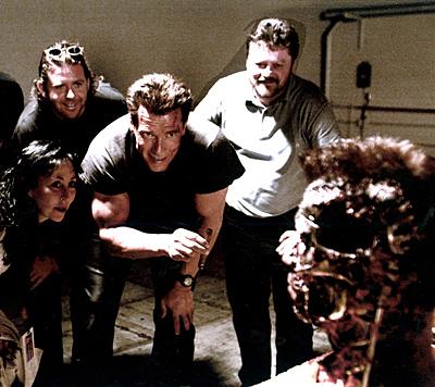 """Am Set von """"Terminator 3"""" im Jahr 2002 (Bild: """"Krone""""-Archiv)"""