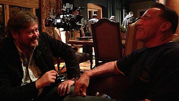 """Werner Kopacka und Schwarzenegger - hier bei einem Filmdreh 2012 - verband eine innige Freundschaft. (Bild: """"Krone""""-Archiv)"""