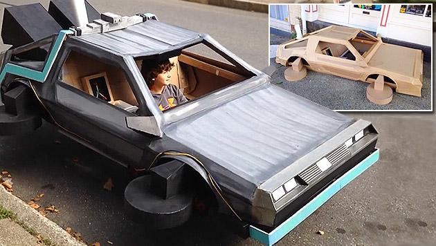 """Bub reist mit DeLorean """"zurück in die Zukunft"""" (Bild: facebook.com/Felix Olivieri)"""