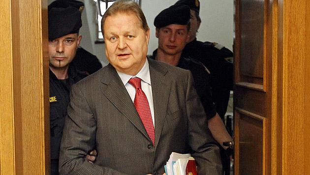 Wolfgang Auer-Welsbach stand 2011 in Klagenfurt vor Gericht. (Bild: APA/GERT EGGENBERGER)